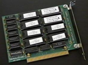 picture of Gemulator ROM card populated with TOS 2.06 and TOS 1.04