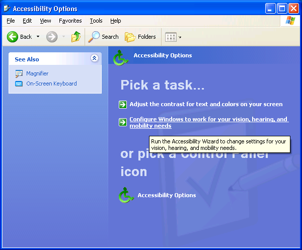 XP Accessibility